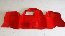 1998-2004; C5; Convertible; Rear Trunk Bumper Carpet; TORCH RED