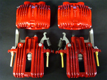 1988-1996; C4; Brake Caliper; RED Powder Coat; Front Rear Full Set