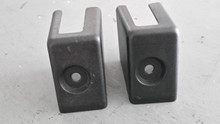 1984-1996; C4; Manual Seat Floor Bolt Covers; PAIR