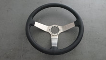 1977-1979; C3; Leather Wrap Steering Wheel with Stainless Center