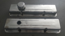 1984-1985; C4; Chrome Engine Valve Covers; PAIR