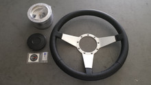 1984-1989; C4; Leather Wrap Steering Wheel Upgrade Replacement Kit