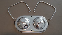 1968-1982; C3; Master Cylinder Cover w/ Bails; Chrome