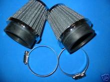 2x POD AIR FILTERS 52MM CB400 KZ400 GS400 SR500 XT500