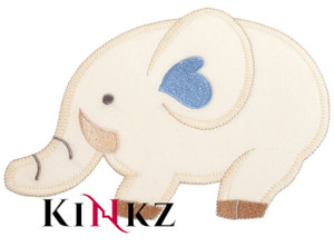 Large Elephant With Blue Heart Iron / Sew On Motif Iron / Sew On Motif or Patch for adult baby clothing abdl