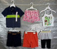 Wholesale Lot Assorted Childrens Clothing Brand New Name Brand Infants & Toddlers 75 PCS