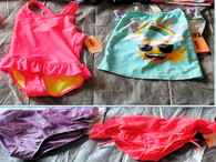 Wholesale Lot of 25 Children Girl Swimsuits Swimwear Bikini One Piece Brand New