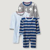 Wholesale Case of 12 Sleep N' Play Set Preemie Size Boy Pack of 3 Brand New Overstock case pack