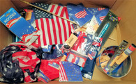 Wholesale Lot of 230 4th of July Mixed Party Decorations Novelty Items