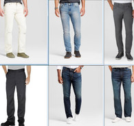 Wholesale Lot of Mens Jeans Pants Bottoms Wrangler Levi Dickies Goodfellow More Brand New