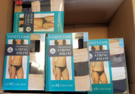 Wholesale lot of Vanity Fair 4 pack Illumination String Bikini Panties