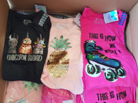 Wholesale Case Pack of Girls Embellished Tees Skates Unicorns Pineapple Brand New Overstock