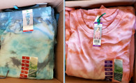 Wholesale Lot of Womens Green Tea Tie Dyed Joggers and Sweatshirts XL and XXL Brand New