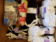 Wholesale Lot of Womens Hue No Show Socks Cotton Liners 6 Pairs per pack Brand New