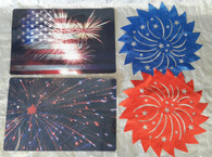 Wholesale Lot 4th of July Independence Memorial Day Placemats 87 Pcs