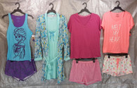 Wholesale Lot of 50 Assorted Pajama Sets Sleepwear Womens S-L Sizes