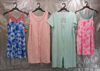 Wholesale Lot of 50 Assorted Sleep Gowns Dresses Pajama Sleepwear Womens S-L Sizes