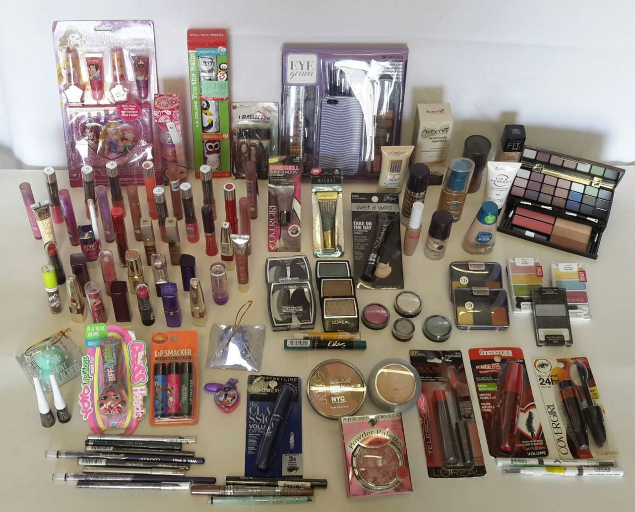 Wholesale Lot 100 Assorted Cosmetics Makeup Brand New Mixed Brands Great  for Resale Resellers