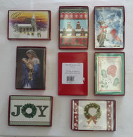 Wholesale Resale Lot of 65 Packaged Christmas Cards Mixed styles Retail $7-$10 each