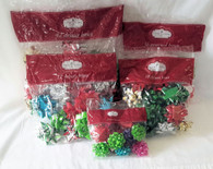 Wholesale Resale Lot of 53 Packaged Holiday Christmas Gift Bows Brand New Mixed Sizes Colors