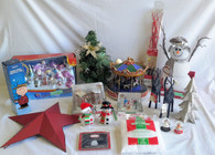 Wholesale Lot of 20 Assorted Holiday Christmas Decor Items Brand New Decorations