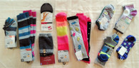 Wholesale Lot of 51 Womens Socks Single and Packaged Mixed Sizes Styles Brand New