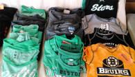 Wholesale Lot Sports Fan Apparel Memorabilia Boston Celtics Eagles Bruins Chicago Bulls NBA NCAA NHL New