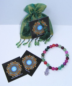 Tourmaline Hamsa Hand 8mm Bracelet Designs by Imogen Good Luck & Protection