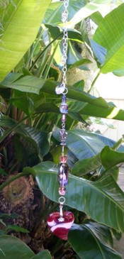 Crimson Onyx Agate Suncatcher Designs by Imogen ~ Protection, Grounding, Healing ~