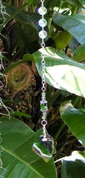 Green Onyx Agate Suncatcher Designs by Imogen ~Protection & Strength ~