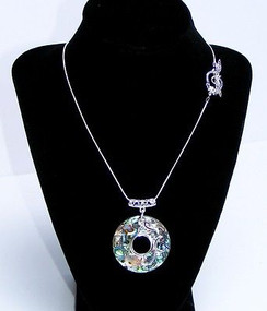 "Abalone Pendant on an 18"" Silver Plated Chain. ~ Calming ~ Designs by Imogen"