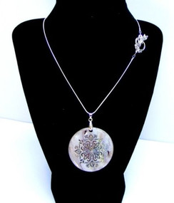 "Abalone Pendant  18"" Silver Plated Chain. ~Soothing~ Designs by Imogen"