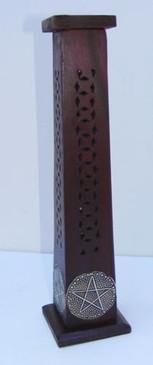 Pentacle design on all four sides of incense burner.