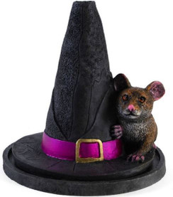 Witches Hat with Mouse Incense Cone Holder by Lisa Parker