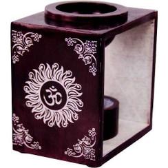 "OM Soapstone Wax Tart Oil Burner Diffuser Aroma Lamp 4""H"