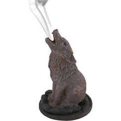 Gray Wolf Incense Burner by Lisa Parker