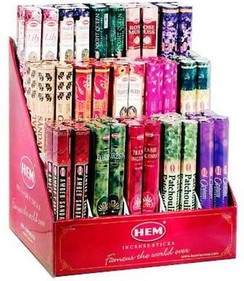 HEM Incense A - F  (Hex Box of 20 Sticks )