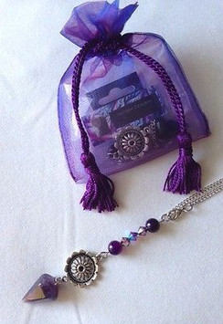 Protection Car Charm for Rear View Mirror- Amethyst by Imogen