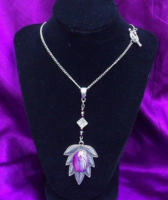Stunning Necklace with a Purple Agate Stone by Imogen Designs