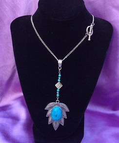 Stunning Necklace with a Turquoise Stone by Imogen Designs