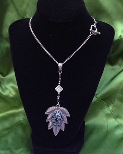 Stunning Necklace with Snowflake Obsidian by Imogen Designs