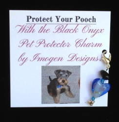 Pet Charm for Collar - Black Onyx by Imogen Designs