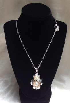 Freshwater Natural Pearl and Silver Plated Necklace by Imogen Designs 2016 Line
