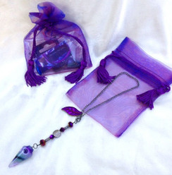 Protection Car Charm for Rear View Mirror- Banded Purple Agate by Imogen Designs