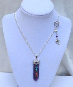 Amethyst 7 Chakra Necklace ~Balance & Peace~ New 2016 Imogen Designs Line!