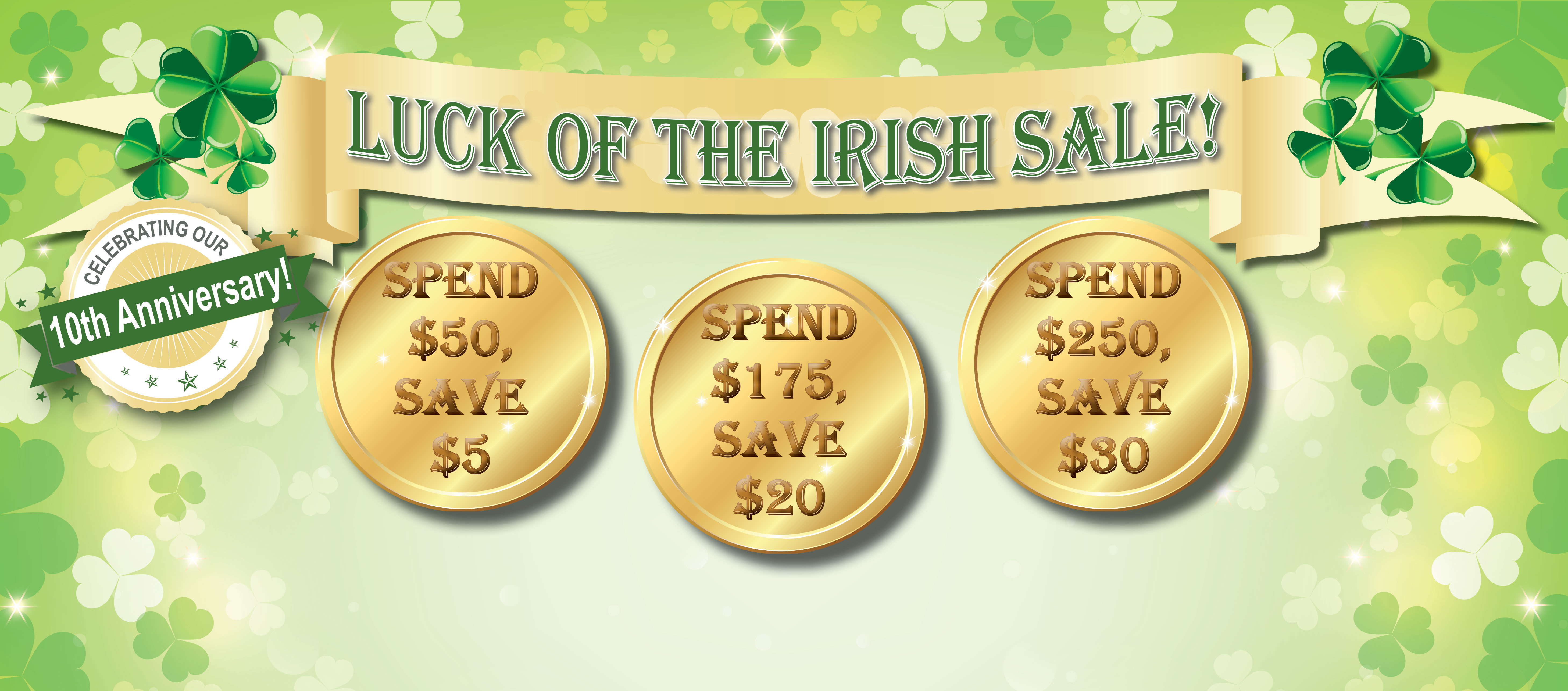 Luck Of The Irish Sale Spend And Save