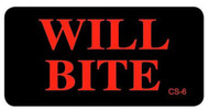 CS-6 Cage Sticker - Will Bite