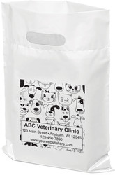 "PTS14- Personalized Plastic Tote Bag - 9"" x 12"""
