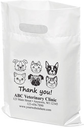 "PTS15- Personalized Plastic Tote Bag - 9"" x 12"""
