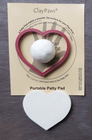 MHP - Maroon Heart Mold & Patty Pad for use with 1 ClayPaws® Prints